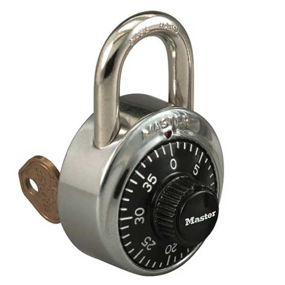 Master Lock, Locks, Padlocks 1525 Master Lock Key control combo lock Black Dial