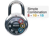 Master Lock, Locks, Padlocks 1525 EZRC Master Lock Key control simple combo lock