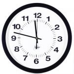 "Clocks & Guards 14"" Atomic Black Clock"