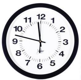 "Clocks & Guards 14"" Atomic Black Clock"