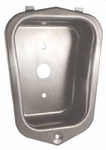 Interior Steel, Medart Recessed handle w/rivet
