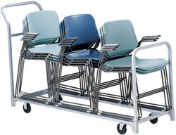 Chair Storage and Movers Folding/Stacked Chair Dolly Holds 36 folding chairs or 3 stack