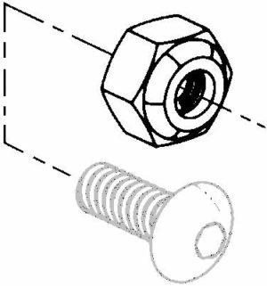 Universal 10 32 nylon insert stop nut