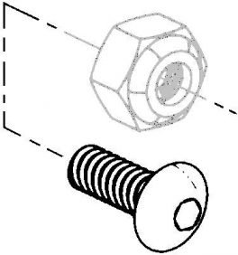 Universal 10 32 x 1/2 cap screw