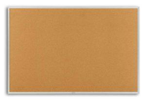 Bulletin Boards 4x12 Plas Cork Bulletin Board aluminum Frame