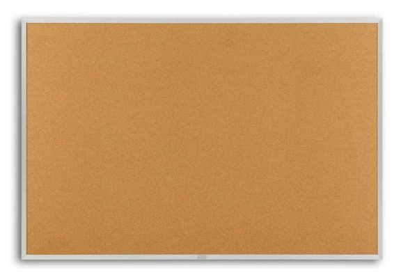 Bulletin Boards 4x10 Nat Cork Bulletin Board aluminum Frame