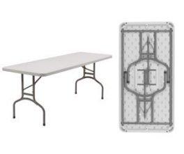"Folding Tables 30"" x 60"" Light Weight Rectangular Folding Table"