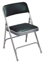 Folding Chairs, Furniture National Public Seating Vinyl Padded Folding Chair
