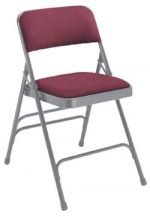 Folding Chairs Nat'l Public Seating Fabric Padded Folding Chair