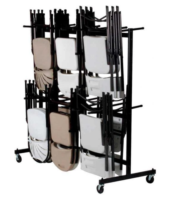 Chair Storage and Movers Hanging Folding Chair Storage Holds up to 84 chairs
