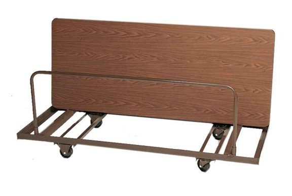 """Table Lifts and Movers 72"""" Edge Rectangular Table Mover (holds 10 tables)"""