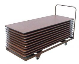 "Table Lifts and Movers 72"" Flat Rectangular Table Mover (holds 12 16 tables)"