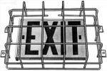 """Clocks & Guards 9""""h x 13""""w x 4""""d Exit Sign Guard"""