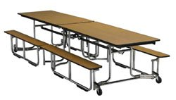 "Cafeteria Tables KI Folding Cafeteria Table w/bench 30"" x 96"""