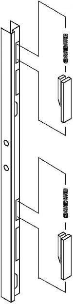 """List/Hallowell/Art Metal 16 3/4"""" 4T lock bar for KD"""