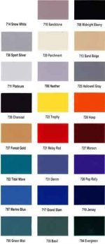 Locker Color Charts List Color Chart
