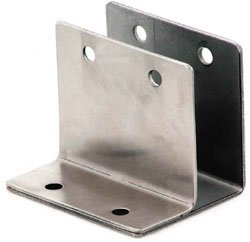 One Ear Wall Bracket, Misc Stainless Steel Hardware Stainless Steel One ear double wall bracket 1 1/4""