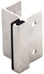 Misc Stainless Steel Hardware, Square Edge Pilaster 1 1/4 SS Cast outswing strike & keeper 1 1/4""
