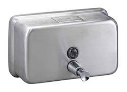 Restroom Accessories Bradley Stainless Steel Horizontal Soap Dispenser
