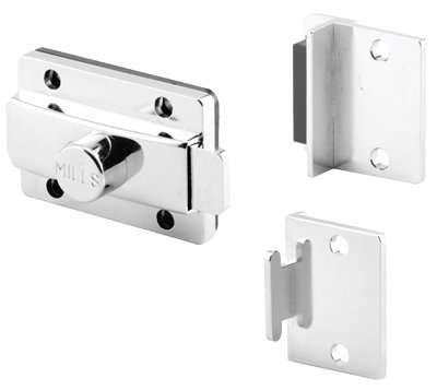 Surface Slide Latches, Mills Stainless Steel Slide Latch & Strike and Keeper Set
