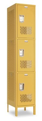 Heavy Duty Ventilated Lockers Triple Tier Locker