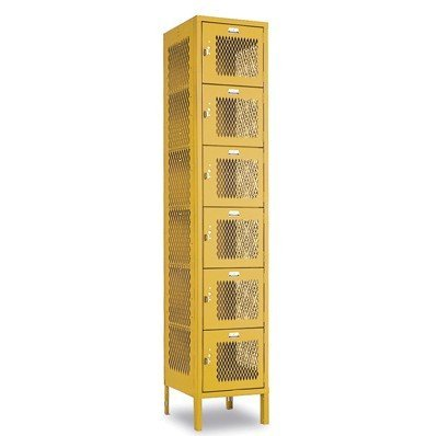 Heavy Duty Ventilated Lockers HDV Six Tier Locker