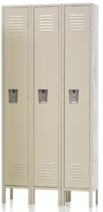 "Single Tier Locker single Tier Locker 15"" x 18"" x 72"" 3 Wide"