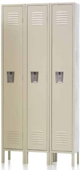 "Single Tier Locker Single Tier Locker 12"" x 12"" x 60"" 3 Wide"