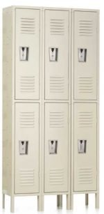 "Double Tier Locker Double Tier Locker 12"" x 18"" x 36/72"" 3 Wide"