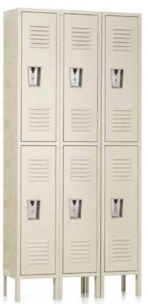 "Double Tier Locker Double Tier Locker 12"" x 15"" x 36/72"" 3 Wide"