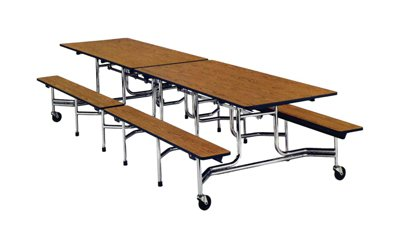 Terrific Buy Virco Folding Cafeteria Table W Bench 29H X 30W X 12 Machost Co Dining Chair Design Ideas Machostcouk