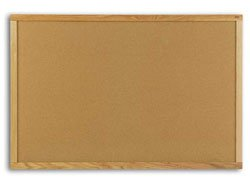 Bulletin Boards 4x8 Plas Cork Bulletin Board oak Frame