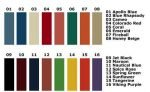 Locker Color Charts DeBourgh Color Chart