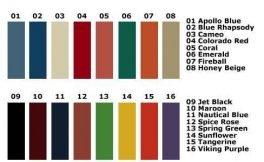 Locker Color Charts DeBourgh Color Chart