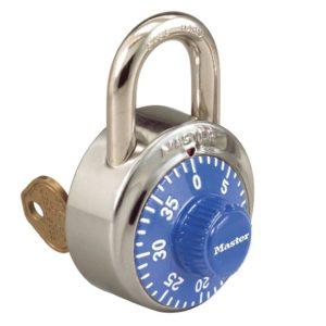 Padlocks 1525 Master Lock Key control combo lock blue dial