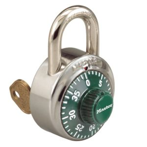 Padlocks Key control combo lock green dial