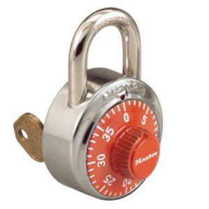 Padlocks 1525 Master Lock Key control combo lock orange dial