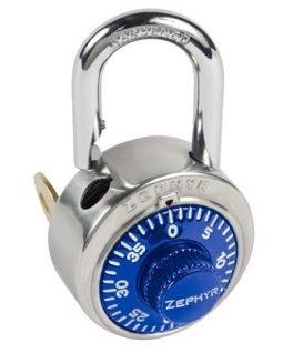 Locks, Zephyr Lock, Padlocks 1925 Key Controlled Blue Padlock