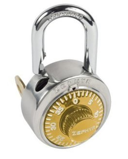 Locks, Zephyr Lock, Padlocks 1925 Key Controlled Gold Padlock