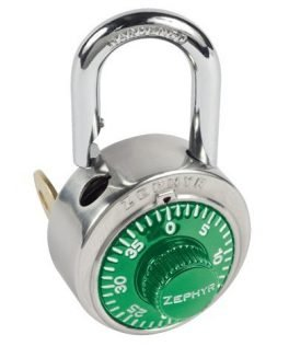 Locks, Zephyr Lock, Padlocks 1925 Key Controlled Green Padlock