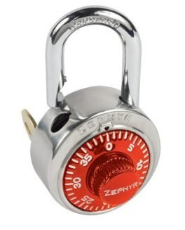 Locks, Zephyr Lock, Padlocks 1925 Key Controlled Red Padlock