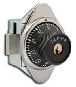Locks, Built in Combination Locks, Zephyr Lock 1930 Series Vertical Dead Bolt Locks RH
